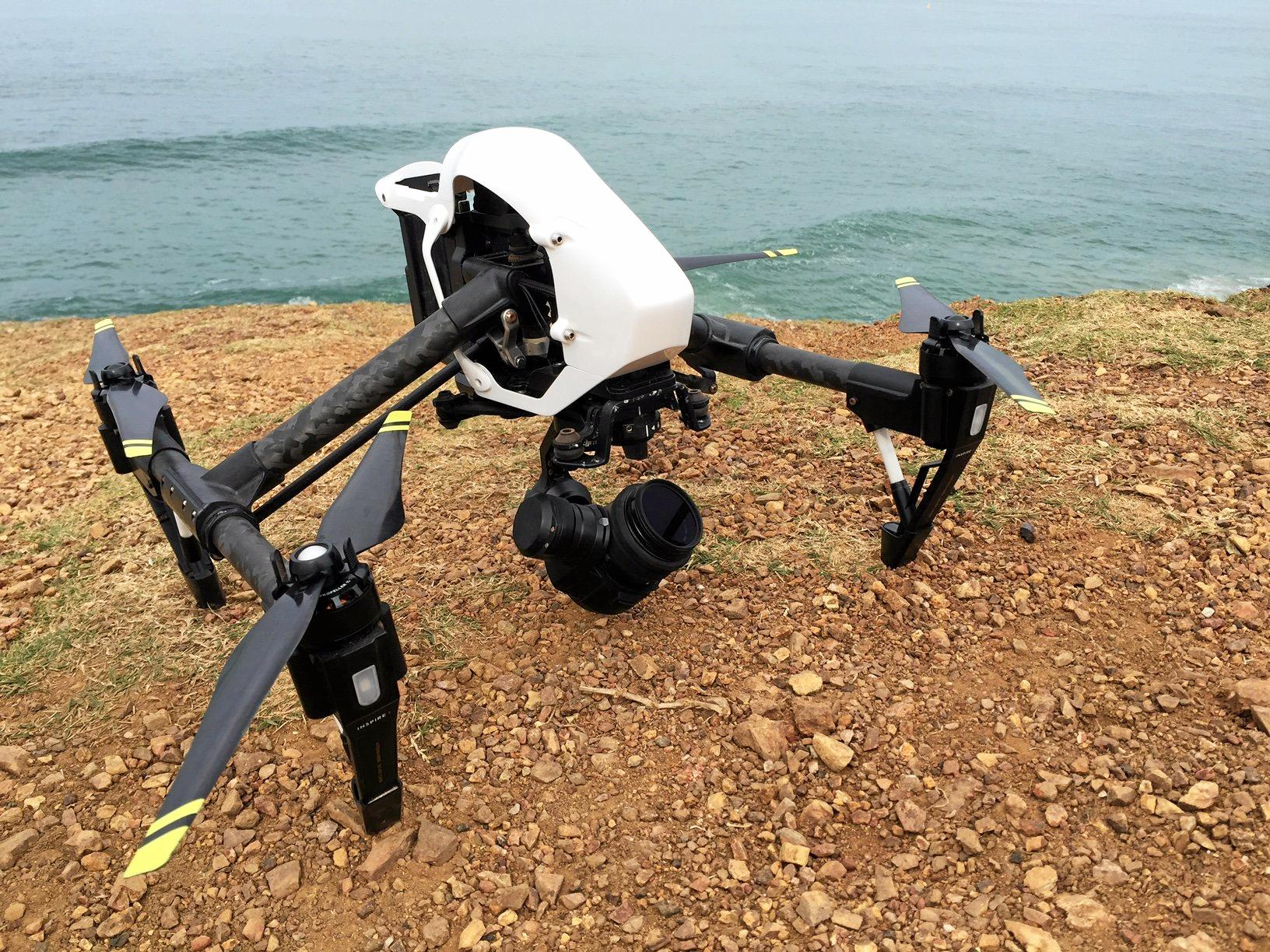IN THE AIR: The Department of Primary Industries' shark drone.