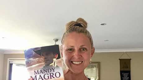 Mandy Magro with her newest novel, Walking the Line