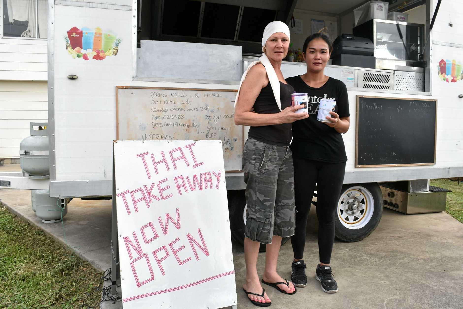Kevina Atkinson and Pon Creasey at the Thai Van, Gladstone.