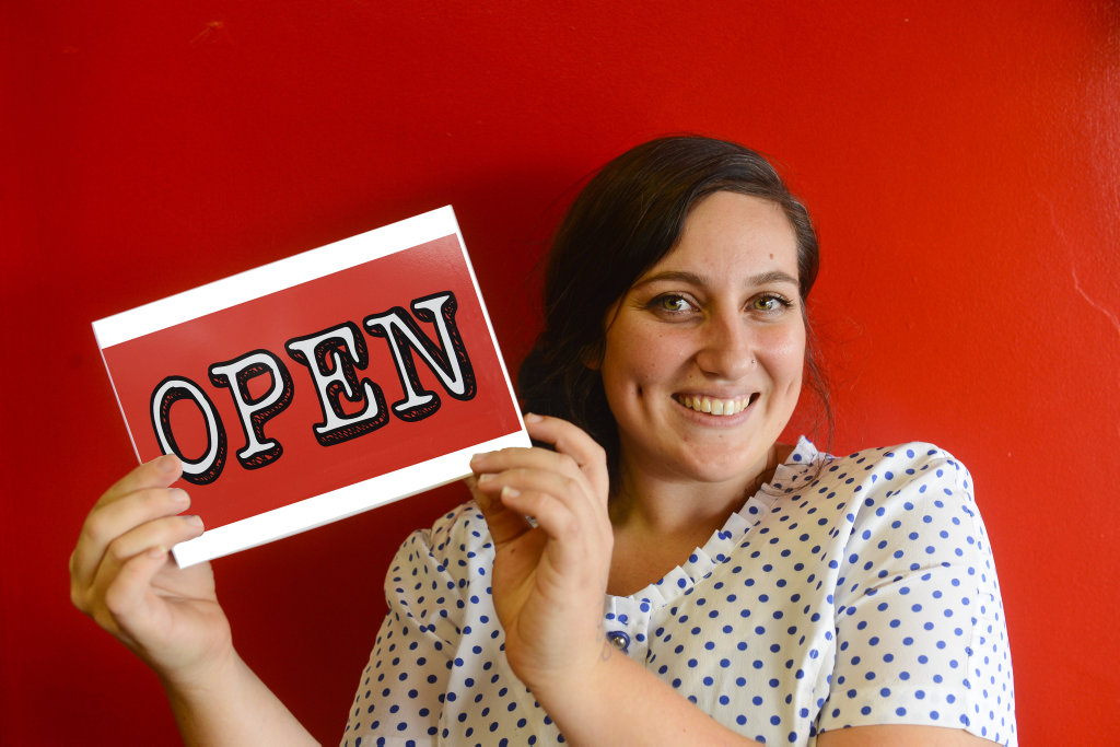 Manager of The Tilted Teaspoon Cafe Skye Harrison - open for business Photo Adam Hourigan / The Daily Examiner
