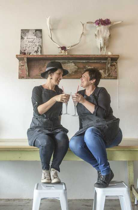Owners of Heart and Soul Cafe Rachael Koning and Shelley Kirk celebrate two years in business. Photo Adam Hourigan / The Daily Examiner