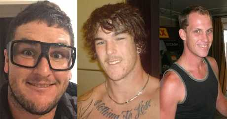 GONE TOO SOON: Leith Wakeham, Chris Holmes and Simon Prideaux died in a horror car crash in Bucca on Saturday, December 17, 2016.