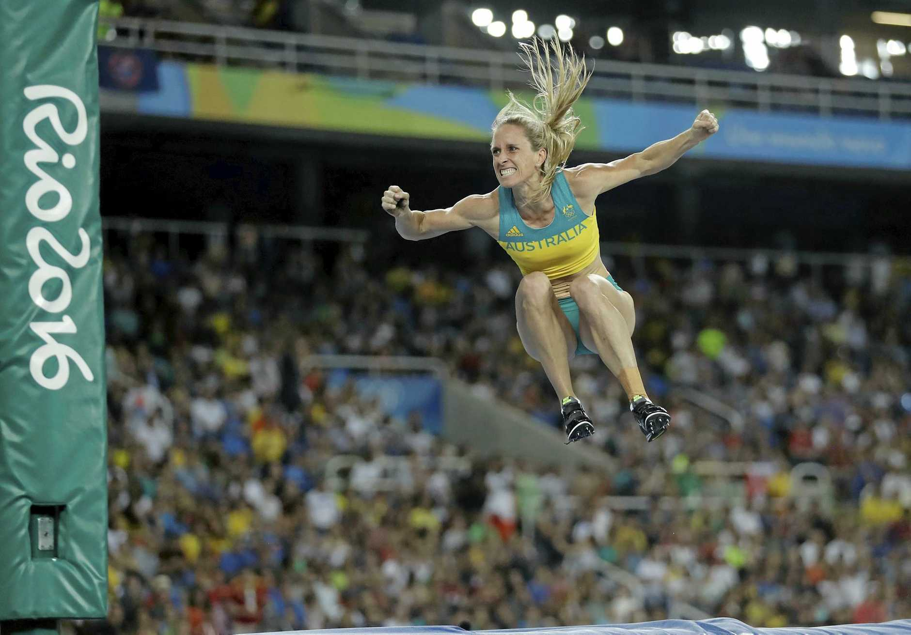 GREAT EFFORT: Alana Boyd competes in the women's pole vault final at Rio, where she finished fourth.