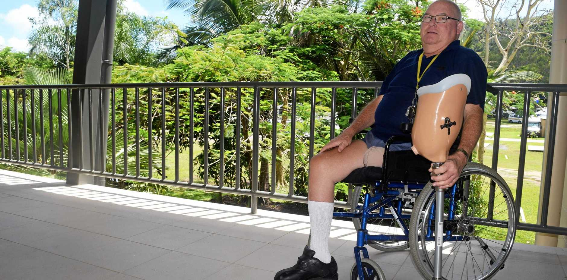 POSITIVE: Chris Yule lost his left leg after developing an ulcer which became infected.