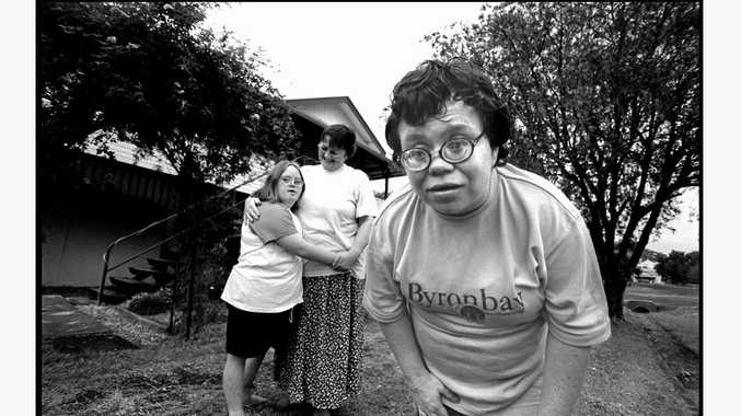 EXHIBITION: Janet, Amy & Kandy Stone , 2001, Silver gelatin photograph, by Jacklyn Wagner.