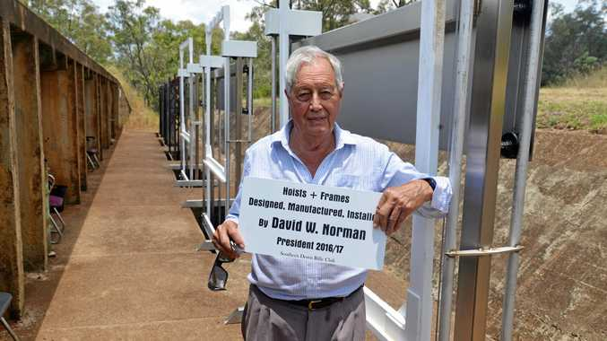 HARD WORKER: Southern Downs Rifle Club president David Norman has constructed five new hoists and frames at Risdon Range.