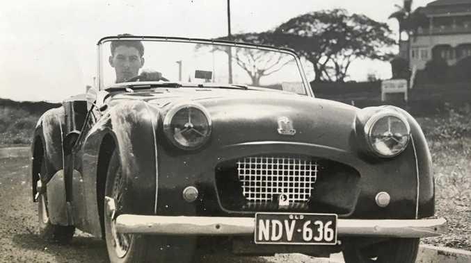 REV HEAD: A young Garth Llewellyn in his Triumph TR 2.