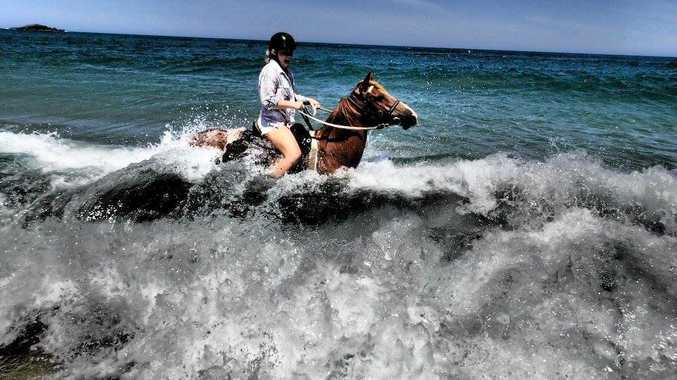 STUNNING: Chris Fenech's image 'Horses on Boambee Beach' featuring rider Jess Honeysett won last year's  I Am Summer competition on the Coffs Coast.