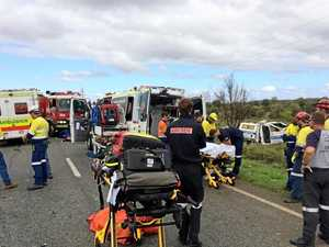 Men remain in hospital after Hilux ute rolls five times