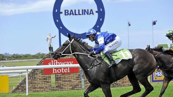 Grafton jockey Matthew Paget rides a winner at the Boxing Day TAB meeting at Ballina last year