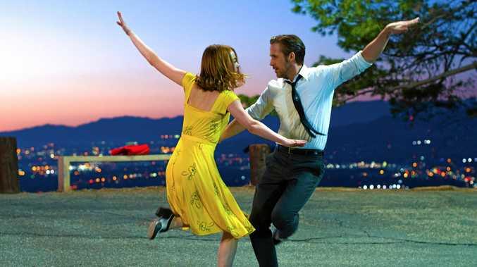 Emma Stone and Ryan Gosling in a scene from the movie La La Land.