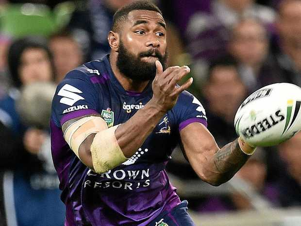Marika Koroibete playing for the Melbourne Storm.