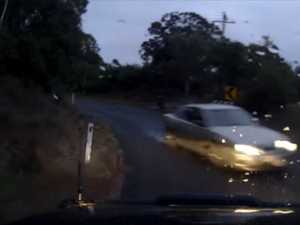 VIDEO: Frightening close call on country road