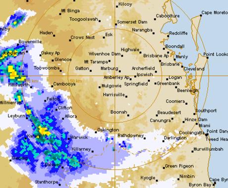 BOM radar Toowoomba