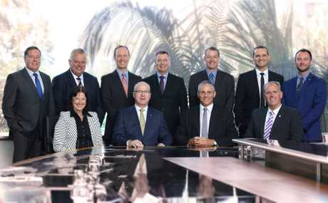 NEW ERA: The newest installment of the Sunshine Coast Council, elected on March 19, gathered at the Caloundra chamber.