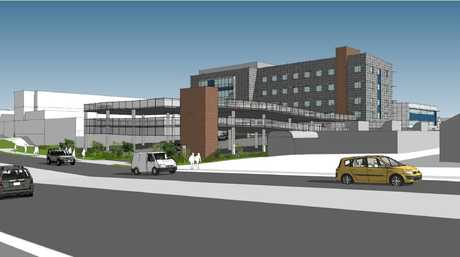Artist's impression of the St Andrew's Hospital expansion from the the Pring St side.