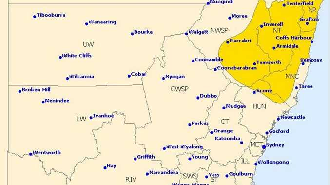 The whole Northern Rivers region is likely to see thunderstorms this afternoon and/or evening.