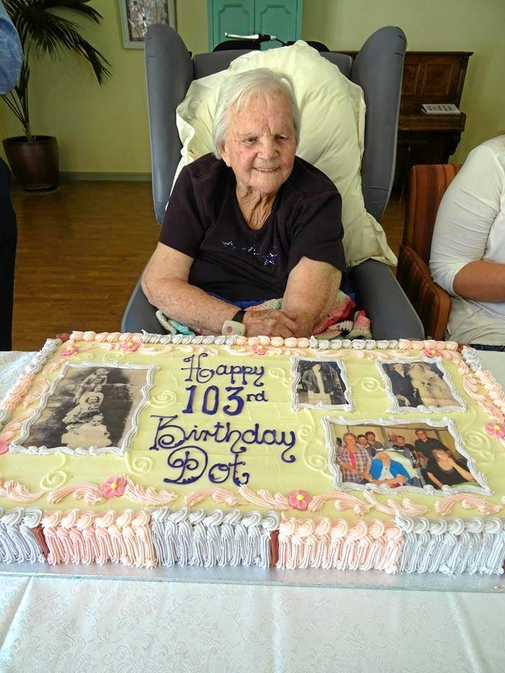 Dot Devine turned 103 on November 24 and was presented with 103 Gerberas.