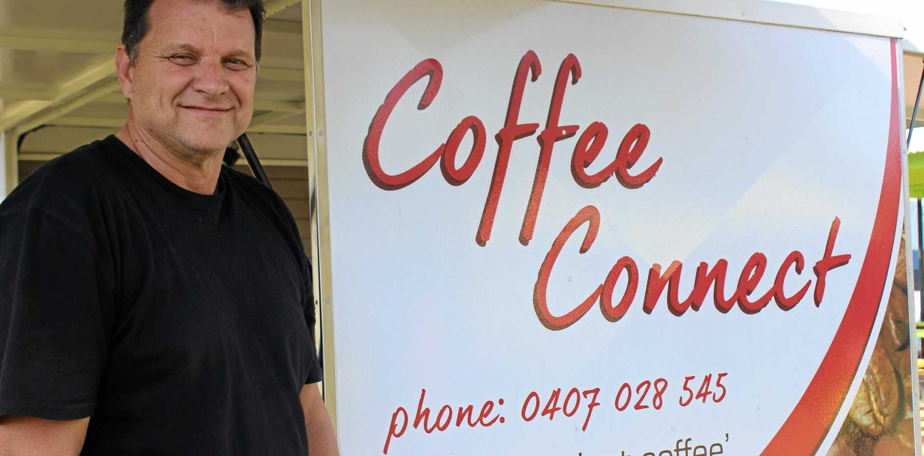 MORE THAN COFFEE: Coffee Connect owner Ron Turner.
