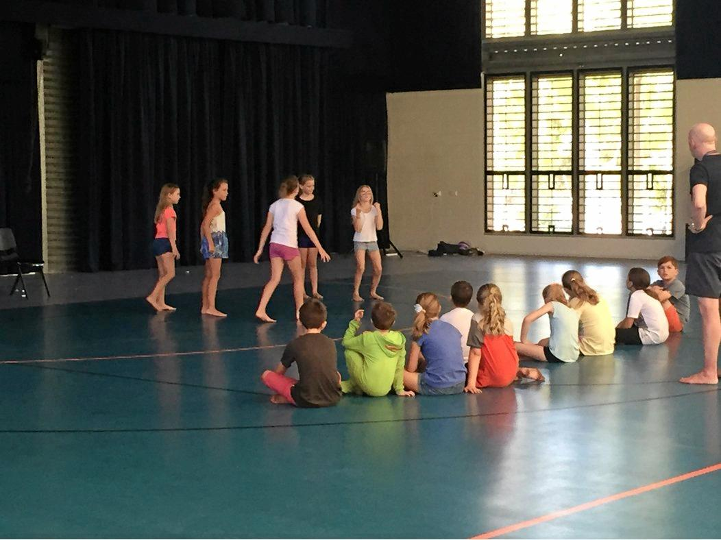 YOUNG ACTORS: Kids participating in the NIDA workshops last year at Cannonvale State School hall.