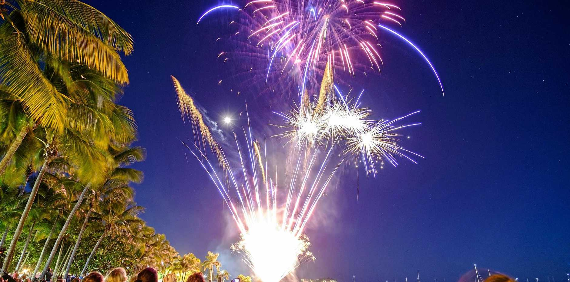 BIG BANG: Airlie Beach foreshore will come alive with fireworks on New Years Eve.