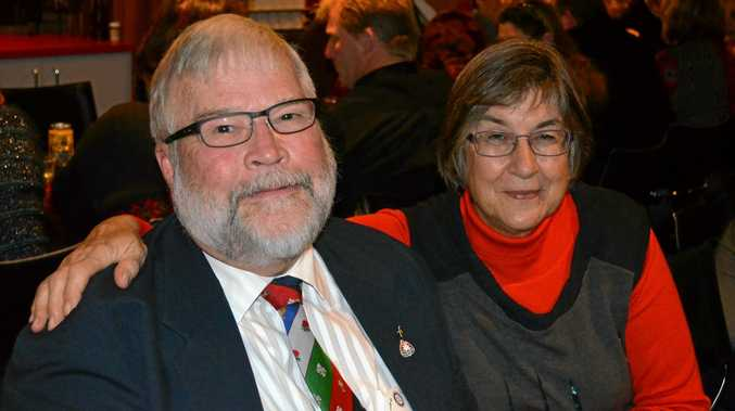 Rotarian Jim Baxter, who was recently awarded the Paul Harris Fellowship, with his wife Gail.