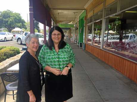 Southern Downs Regional Council Mayor Cr Tracy Dobie and The Minister for Employment and Industrial Relations The Honourable Grace Grace meet in Warwick.