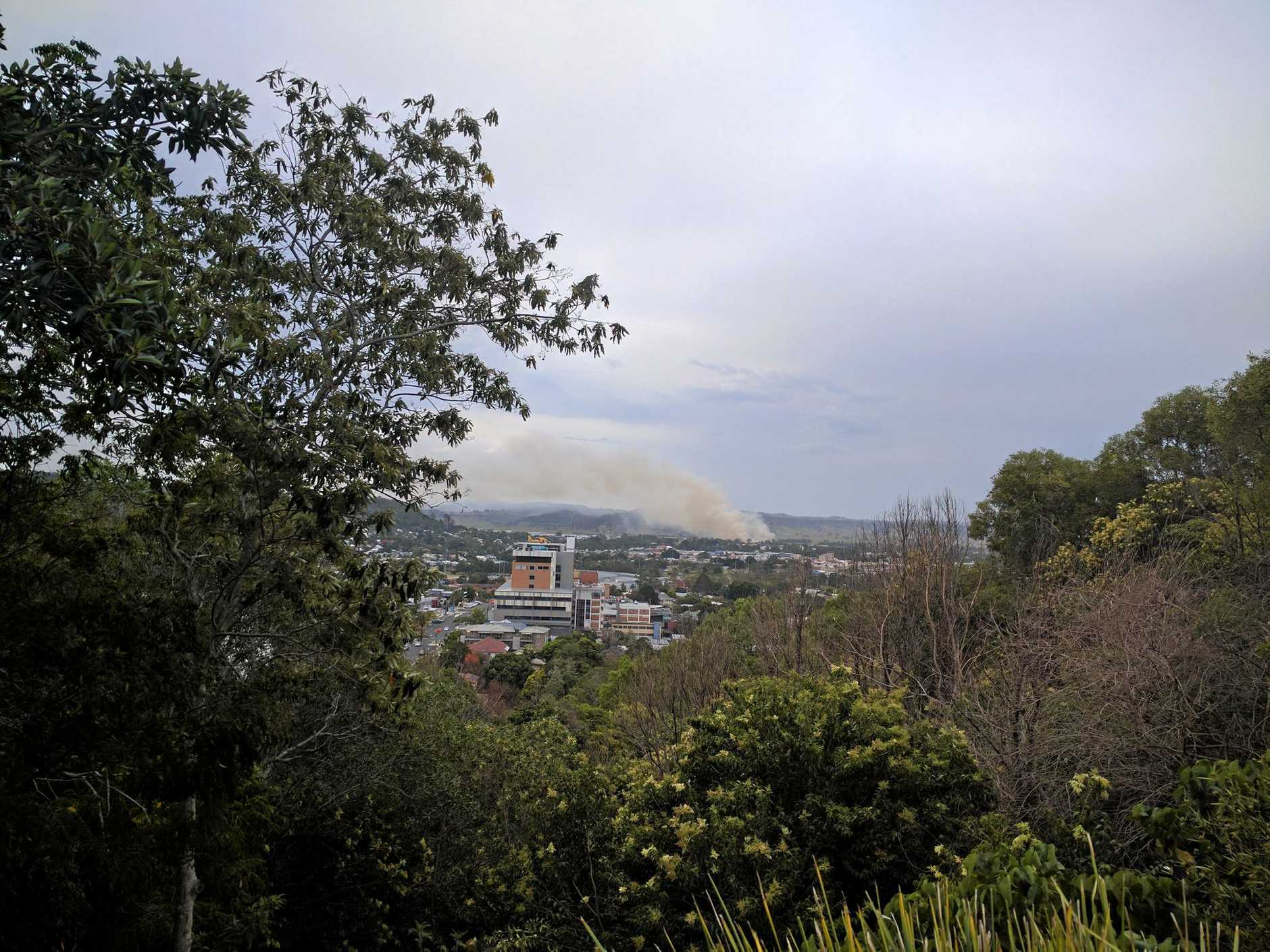 A fire near Lismore on Tuesday, December 20.