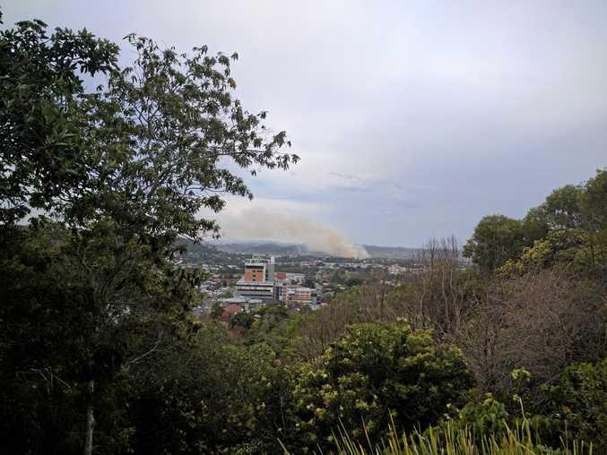 A fire near Lismore on Tuesday, December 20.