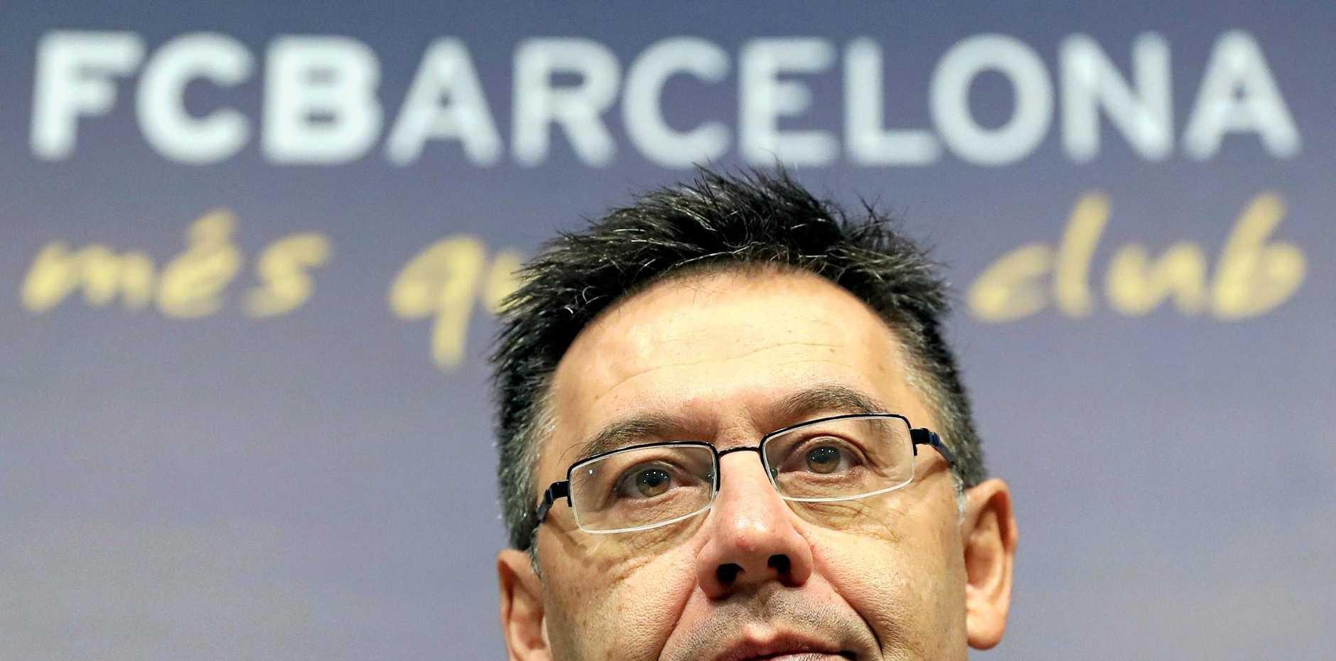 FC Barcelona's president Josep Maria Bartomeu.