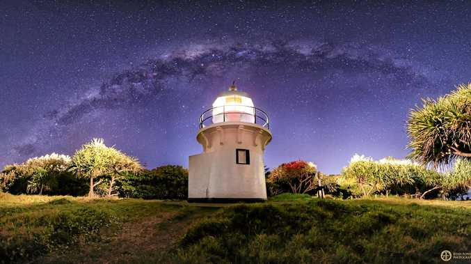 Under the milky way tonight: Fingal Head lighthouse illuminating the night sky. This spectacular photo was taken by Casuarina photographer and Tweed Daily News columnist Ryan Fowler, who will help judge our I am Summer competition.
