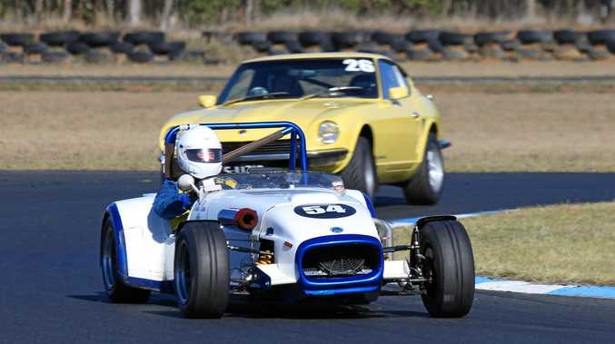 Warwick driver Brian Dunn in Queensland Super Sprints action at Morgan Park Raceway.