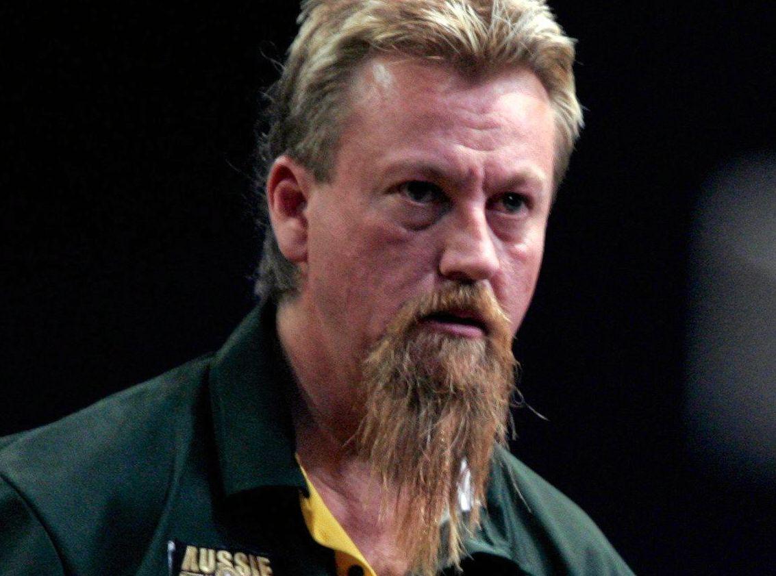 Australian darts player Simon Whitlock.