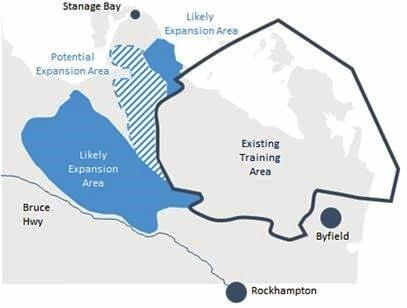 Proposed expansion for Shoalwater Bay.