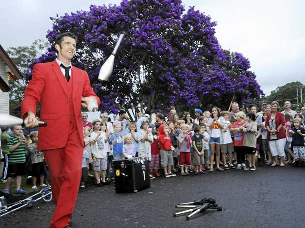 FUN: Families from around the area gather in Bangalow for the traditional Christmas Eve celebrations.