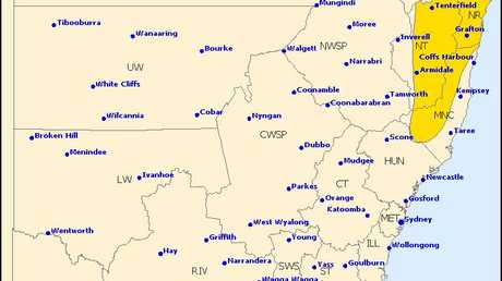 The Bureau of Meteorology has issued a storm warning for the Clarence Valley this afternoon.