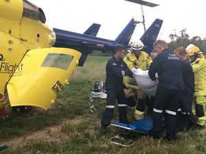 Woman airlifted after Burnett Hwy crash