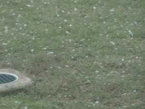 VIDEO: Rain and hail batter Gatton