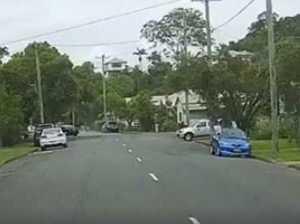DASH CAM: Four-wheel drive rolls, lands in driveway