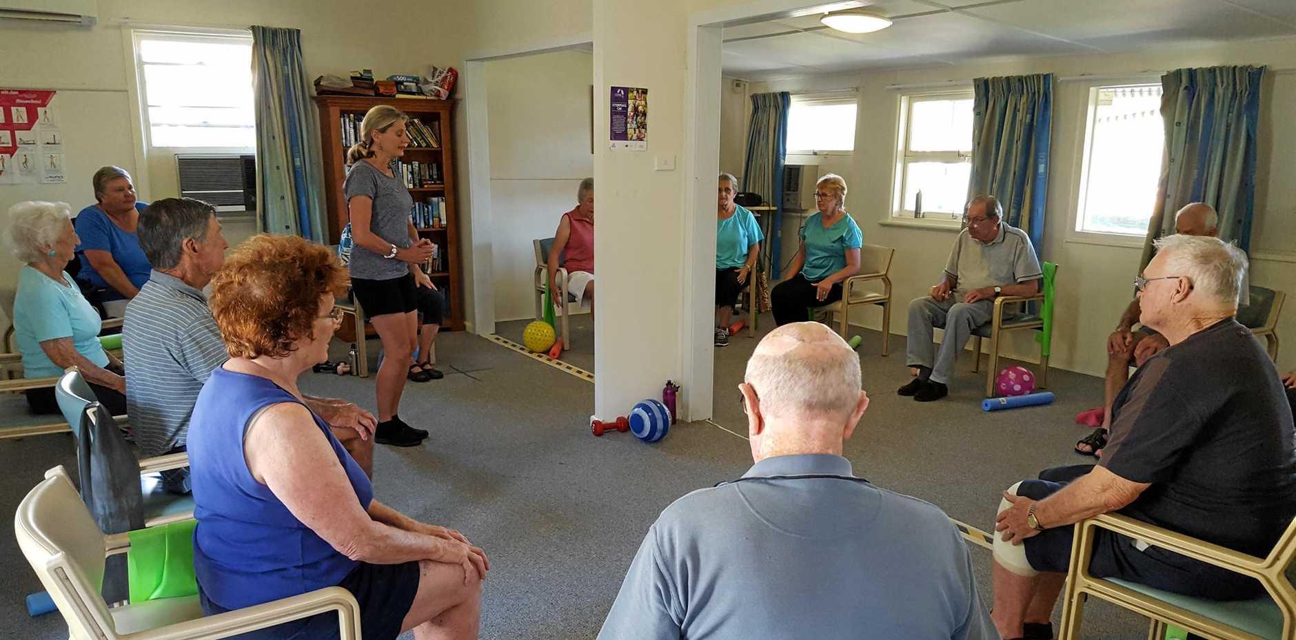 GET UP: Exercises class at Macksville.