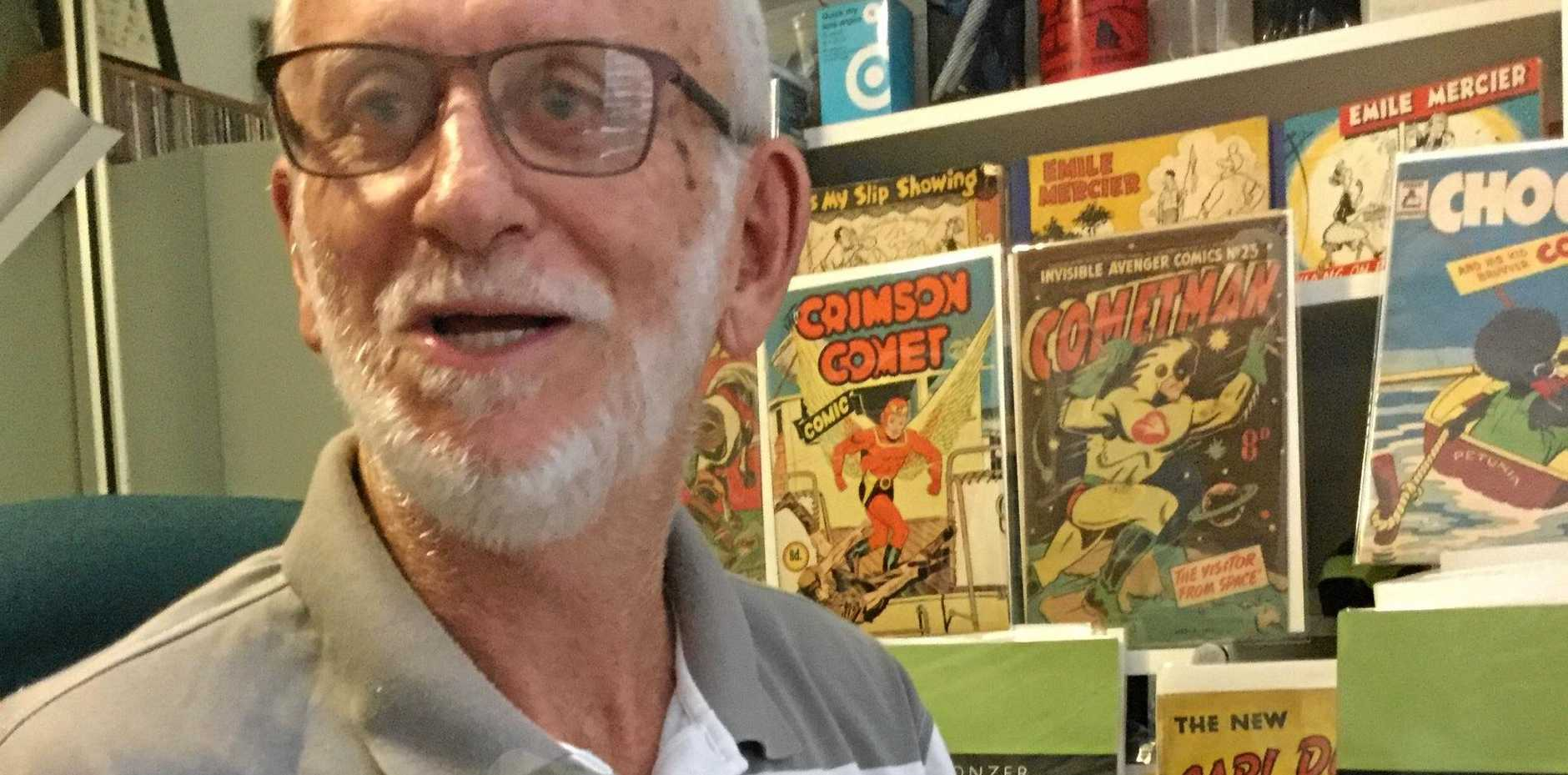 Dedicated Australian comics collector Peter Curnow has helped to expand the scope of the Bunker Gallery's Ginger Meggs exhibition.