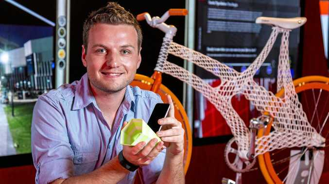 FUTURE LEARNING: Bright Sparks 2016 presenter James Novak is running a 3D printing workshop with Wayne Day