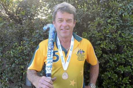 Australian Over 50s representative Michael Russ is back in the Clarence with a new bit of silverware. Photo Matthew Elkerton / Daily Examiner