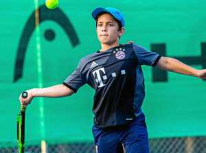 Junior tennis action captured