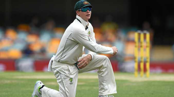 Australian captain Steve Smith at the Gabba.