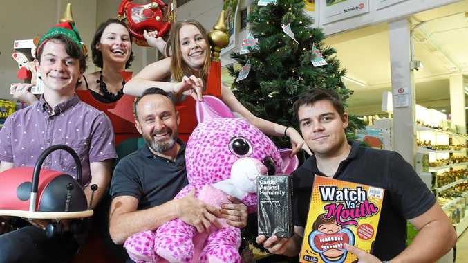 Toy Kingdom and Playforever Toys owner Carey Horner and his team, Kim Mills, Max Hooper, Tess McIntyre, and Cameron Taylor-Brown, love to help shoppers find that perfect gift for christmas.