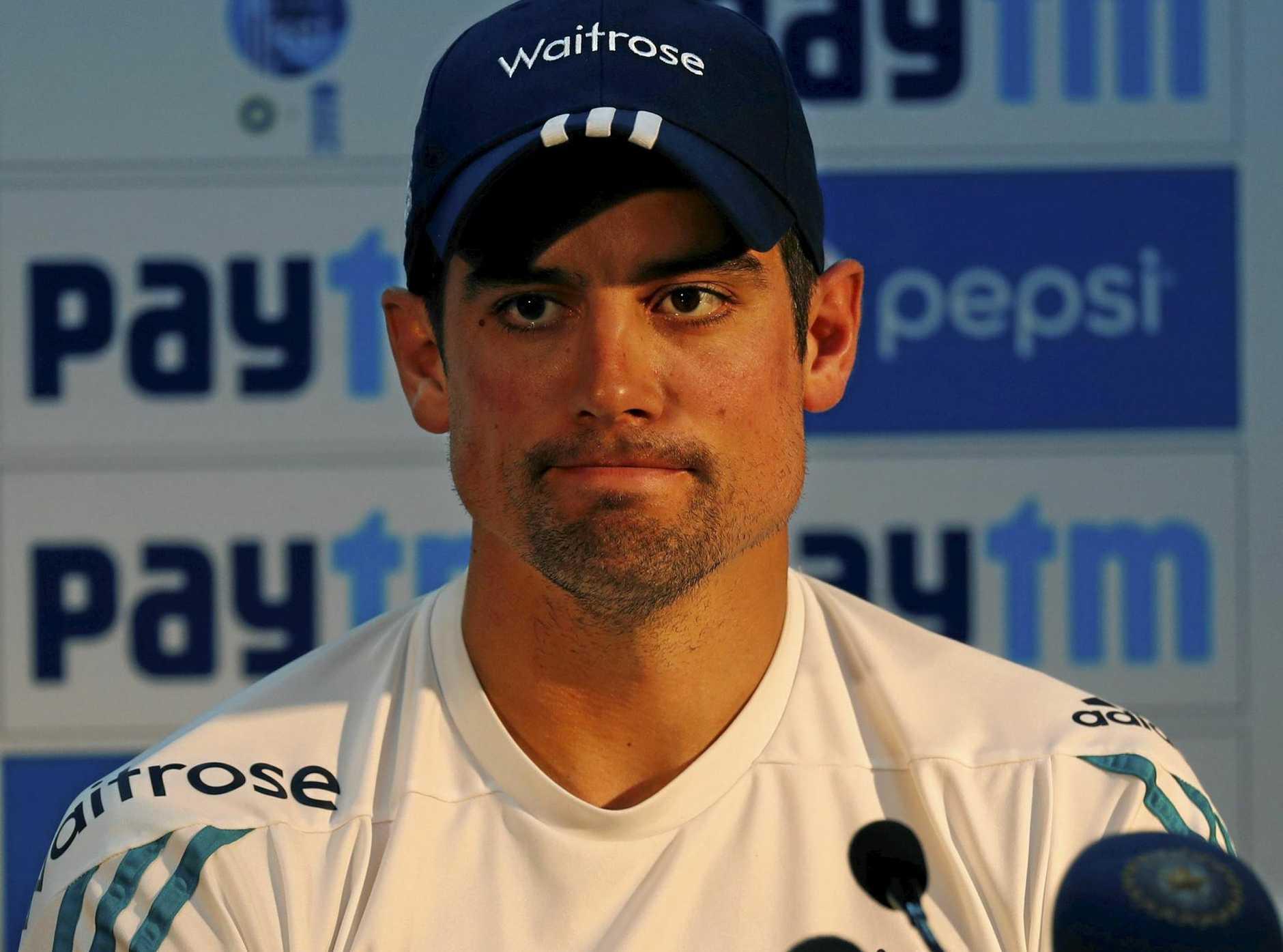 England cricket captain Alastair Cook.