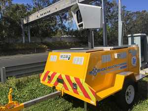 Police use remote trailers to catch speeding drivers