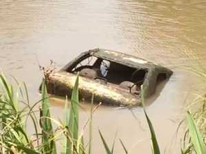 Stolen car dragged from river