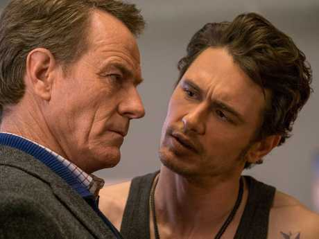 Bryan Cranston and James Franco in a scene from the movie Why Him?